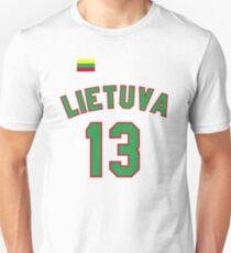 Sarunas Marciulionis 13 Lithuania Basketball Unisex T-Shirt