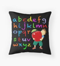 Chalkboard Alphabet Throw Pillow