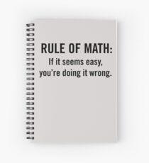 Cuaderno de espiral Regla de Matemáticas