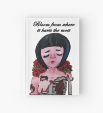 Bloom From Where It Hurts the Most  Hardcover Journal