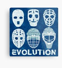 Hockey Goalie Mask Evolution Metal Print