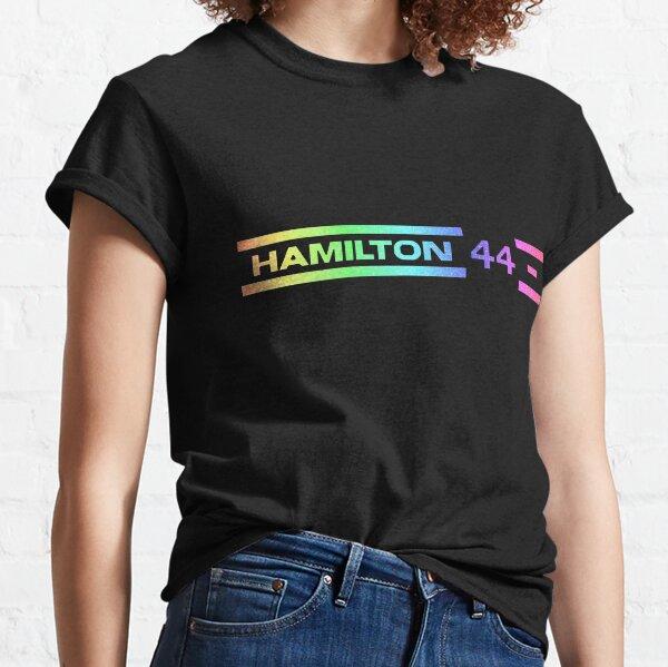 Rainbow Glitter Lewis Hamilton T-shirt classique
