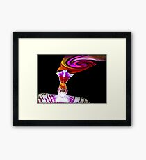 Head Trip - Orchid Alien Discovery Framed Print
