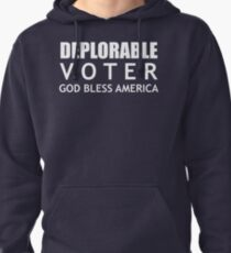 Deplorable Voter #basketofdeplorables Election 2016 White Pullover Hoodie