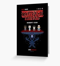 16-bit Stranger Things Greeting Card