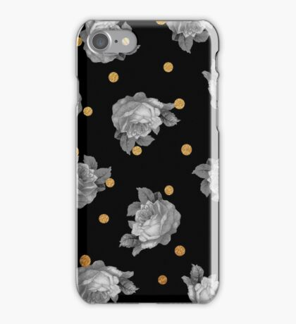 Roses and Gold Dots iPhone Case/Skin