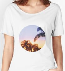 Sunset and Palm Trees Women's Relaxed Fit T-Shirt
