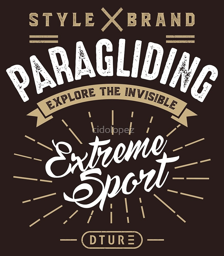 Paragliding Extreme Sport by cidolopez