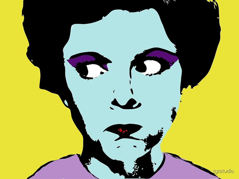 Pop Art - Any Warhol Inspired - Vintage Woman by tgrstudio