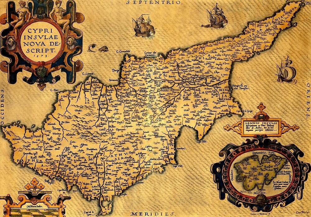 Map Of Cyprus 1600 by mollyfare