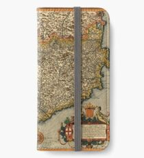 Map Of Catalonia 1608 iPhone Wallet/Case/Skin