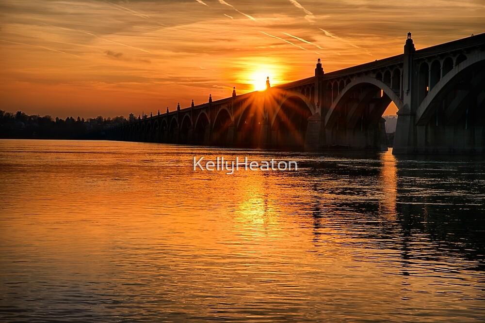 Bridge at Sunset by KellyHeaton