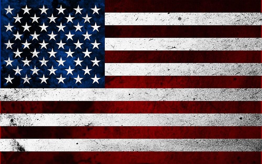 USA FLAG GRUNGE by johnhunternance