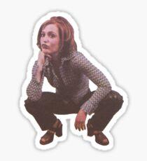 Gillian Anderson Squatting!!!! Sticker