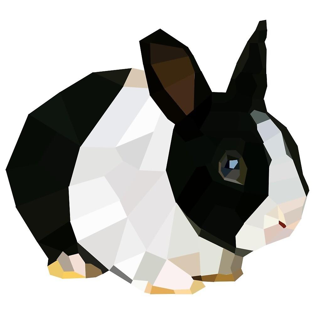 Geometric rabbit by HeloBelisle
