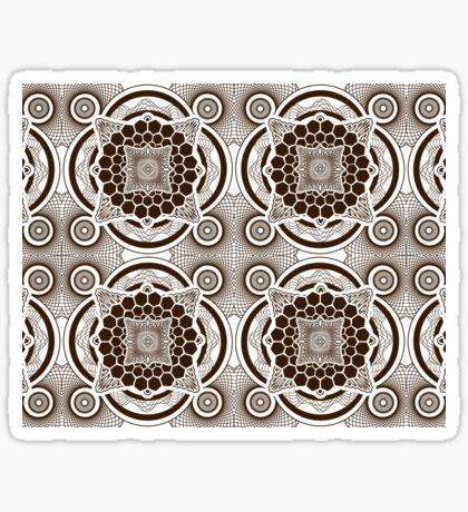 Brown Mandala Sticker