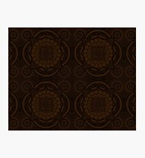 Brown Mandala Photographic Print