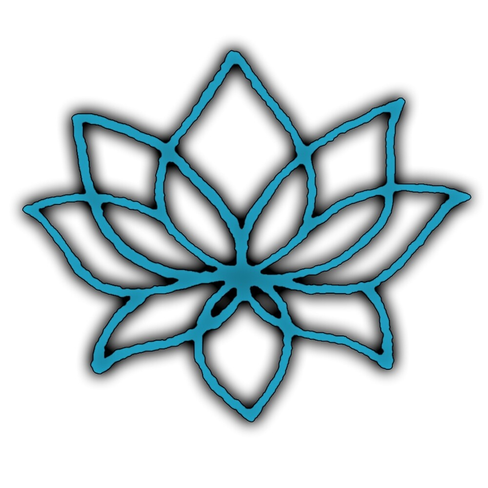 Lotus Flower Teal Shadow by amwats