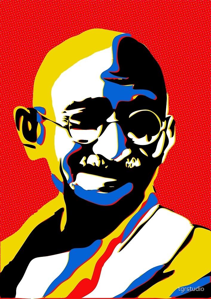 Mahatma Ghandi - Iconic Pop Art by tgrstudio