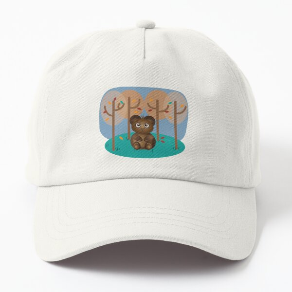 Brown Bear Sitting in the Woods Dad Hat