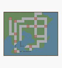 Kanto Map Photographic Print