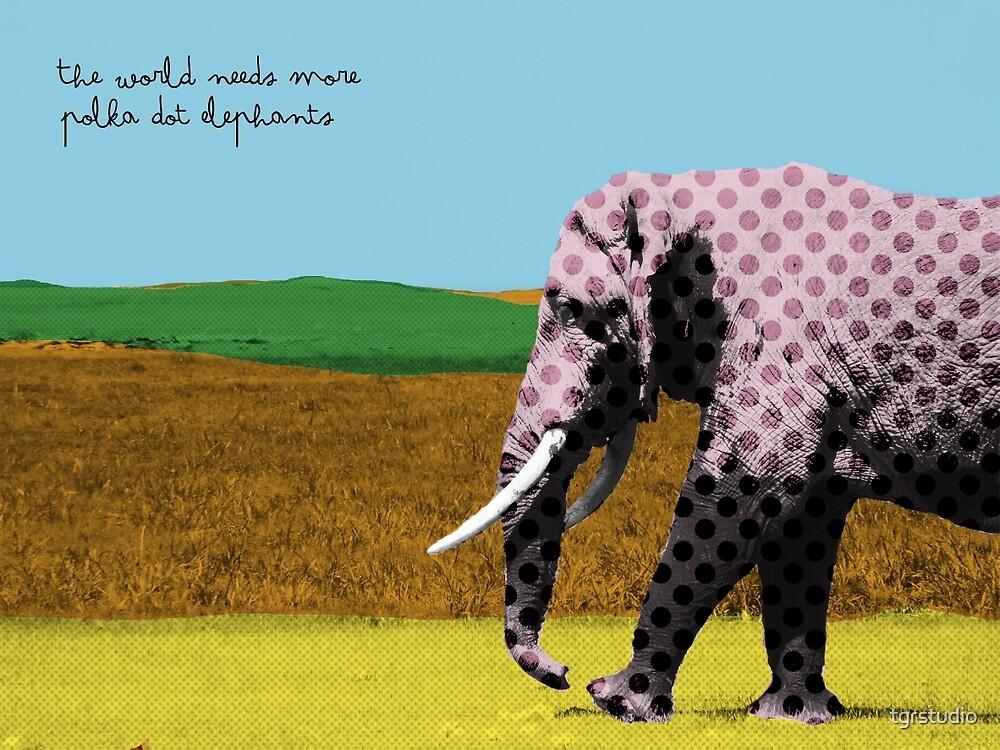 The world needs more polka dot elephants by tgrstudio