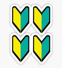 Japanese Beginner x4 Sticker
