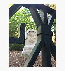 Haunted Mansion Graveyard Photographic Print