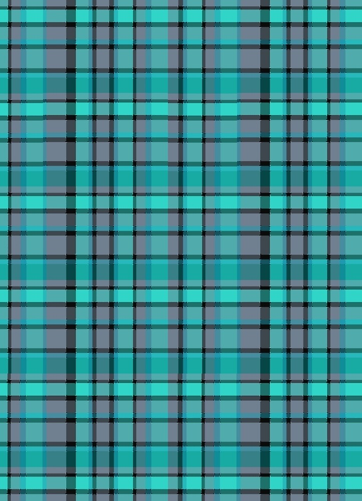 Teal Plaid by Nicki harvey