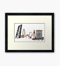 CLEVELAND the City Skyline Framed Print