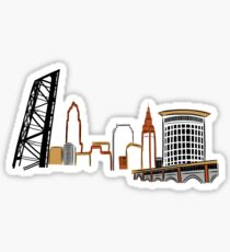 CLEVELAND the City Skyline Sticker
