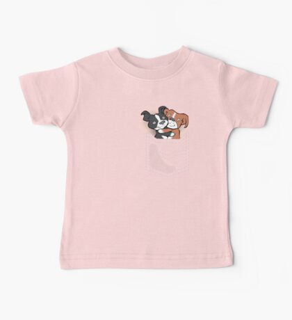 Tuppence and Pepper in pocket Baby Tee