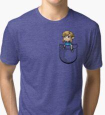 Pocket Link BOTW Zelda Tri-blend T-Shirt