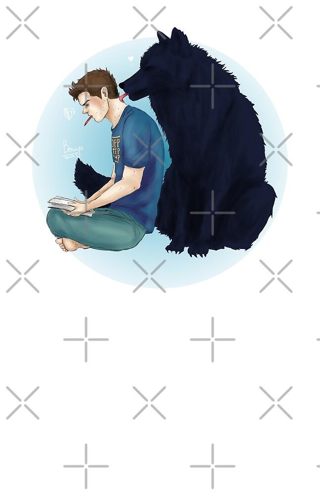 Sterek wolf kisses print by Benaya-Trash
