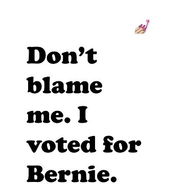 Don't Blame Me I Voted for Bernie by codenoir