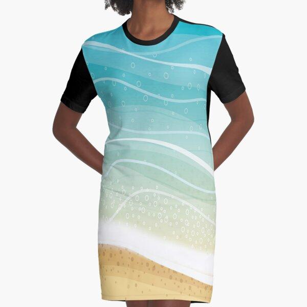 Popular Beaches Graphic T-Shirt Dress