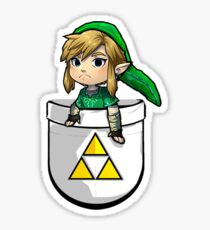 Pocket Link Hero of Time Zelda with Triforce Sticker