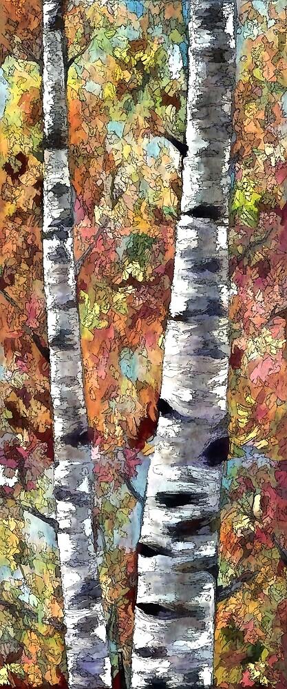 Aspen Trees by OLena Art - brand
