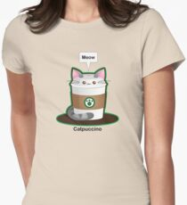 Cute Cat Coffee Women's Fitted T-Shirt