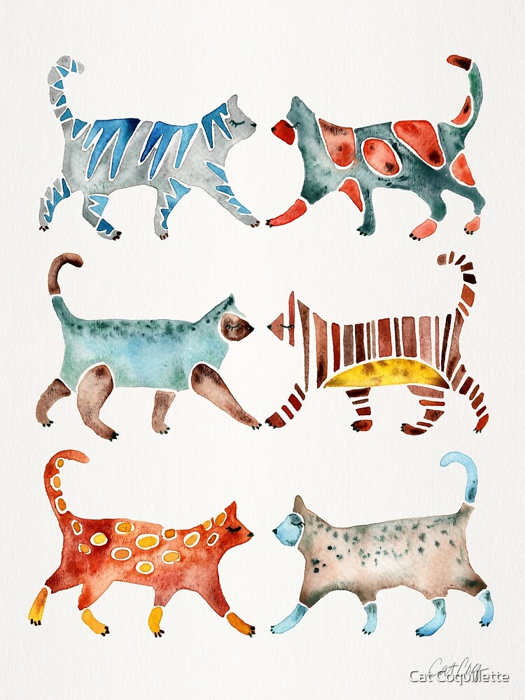 Cat Collection: Watercolor by Cat Coquillette