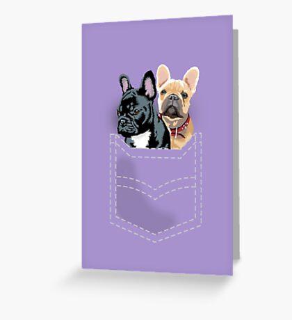 Diesel and Brie in pocket Greeting Card