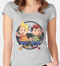Ness and Lucas Women's Fitted Scoop T-Shirt