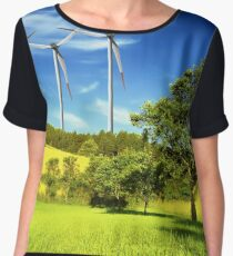 Green Energy Chiffon Top