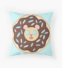 Doughnut lion Throw Pillow