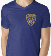 Camiseta de cuello en V Patrulla de Caminos de California