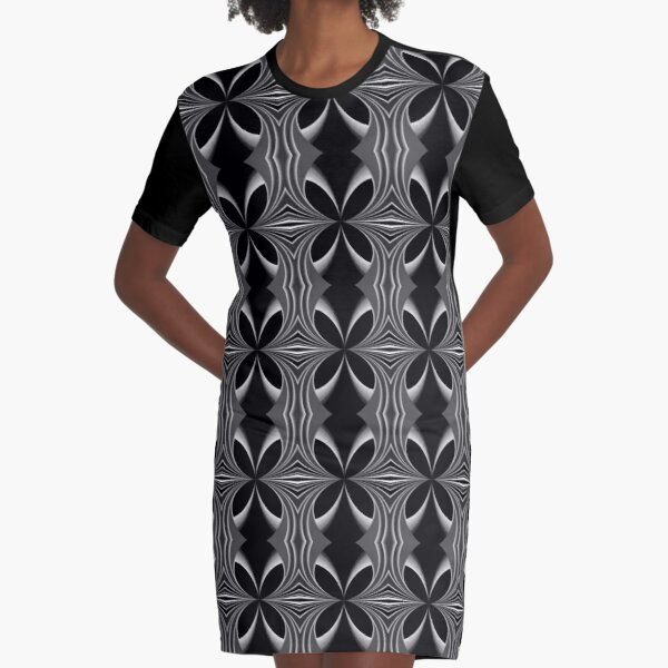 Royal Butterfly Graphic T-Shirt Dress