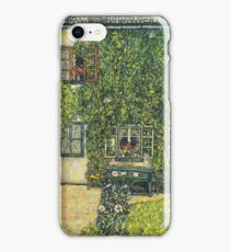 Gustav Klimt - The House Of Guardaboschi 1912 iPhone Case/Skin
