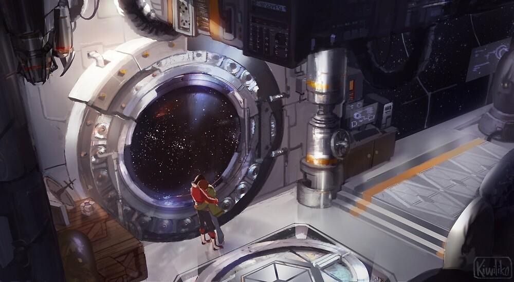Klance in Spacestation by kiwiliko