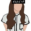 Alycia Debnam Carey Faceless with text in eye area by The  100