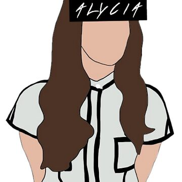 Alycia Debnam Carey Faceless with text in eye area by xvxmaiia